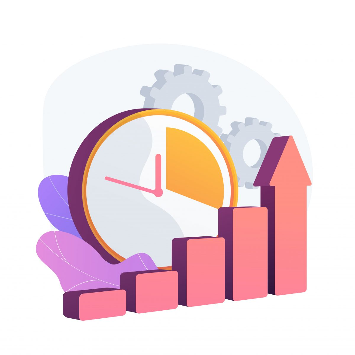 Effective time managementt vector concept metaphor